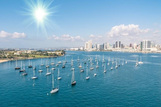Vẻ đẹp trên vịnh biển ở San Diego