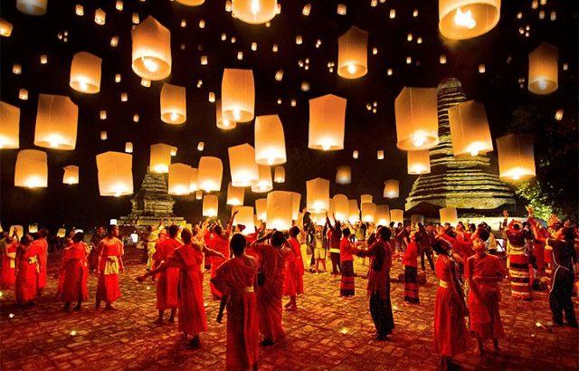 Loy Krathong – lễ hội ánh sáng đẹp nhất ở Thái Lan