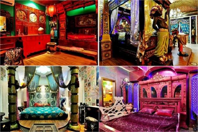 Mỗi phòng trong khách sạn là một vương quốc cổ xưa trên thế giới